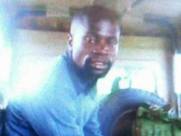 The gunman who killed four officers at Kapenguria police station in West Pokot county in an attack on July 14, 2016. /COURTESY