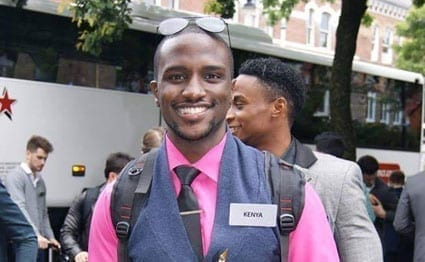 Mr Kevin Oduor Owiti, 21, Kenya's representative to the Mr World pageant. PHOTO | COURTESY