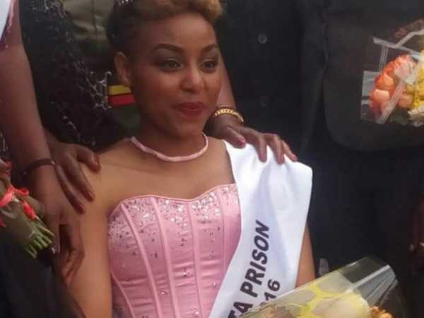 Ruth Kamande who killed her boyfriend by stabbing her 22 times when she was crowned Miss Langata women prison on Wednesday, August 31. /MONICA MWANGI