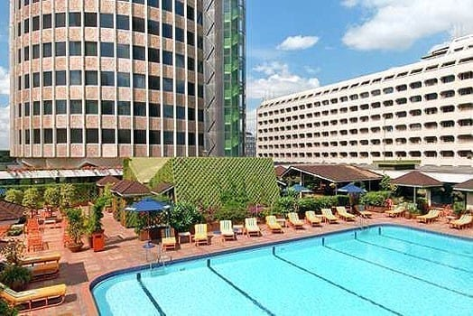 A view of Hilton hotel's swimming pool. PHOTO | COURTESY