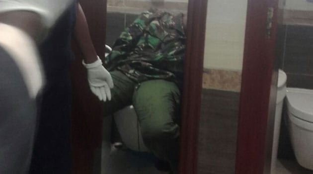 The corporal is reported to have locked herself in the toilet, where she shot herself in the head using a pistol/CFM NEWS