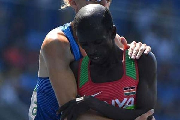 Two-time Olympic champion Ezekiel Kemboi lost his bronze medal that he won on August 17, 2016 in Rio for lane infringement. PHOTO | AFP