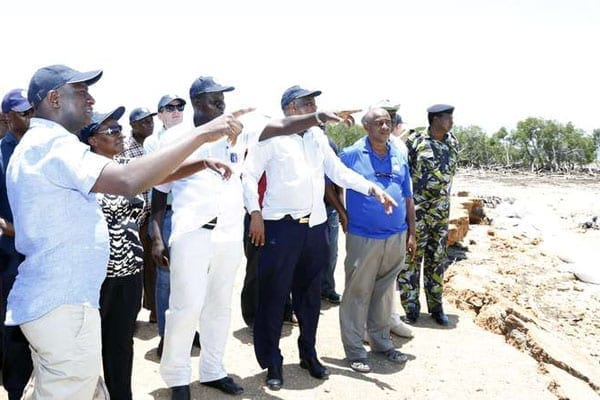 Energy Cabinet Secretary Charles Keter and his Ugandan counterpart Irene Muloni when they toured the proposed site for Lamu port and pipeline. FILE PHOTO   NATION MEDIA GROUP