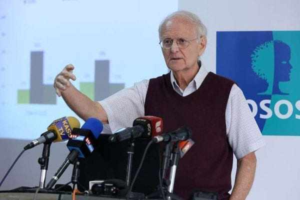 Dr Tom Wolf, the lead research analyst, Synovate Ipsos, releases the research findings in Nairobi on August 2,2016. PHOTO | JEFF ANGOTE | NATION MEDIA GROUP
