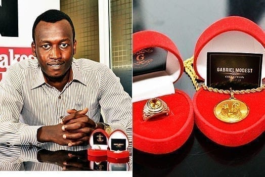 Mr Gabriel Modest, the proprietor of Mr G collection. PHOTOS | FRANCIS NDERITU