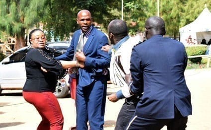 Some of the Nyeri ward reps during the brawl at the House.