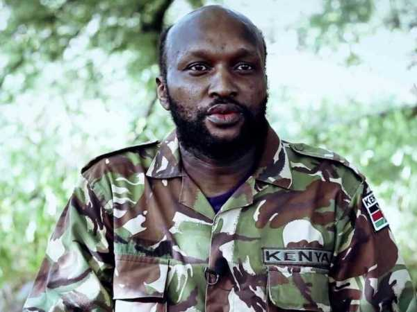 A screen shot from a new video by  al shabaab militants, of a KDF soldier captured in El Adde, asking President Uhuru Kenyatta to withdraw troops from Somalia. /YOUTUBE