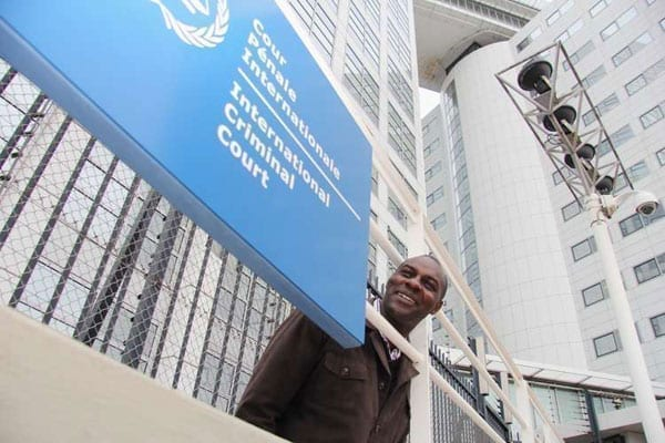 A man outside the International Criminal Court in The Hague, the Netherlands on October 31, 2013. PHOTO | BILLY MUTAI | NATION MEDIA GROUP