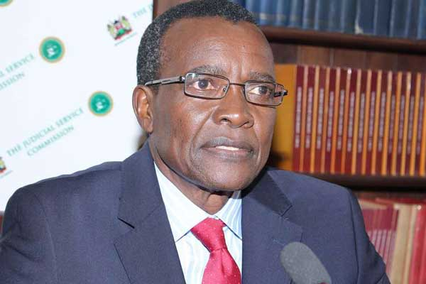Justice David Maraga when he appeared before