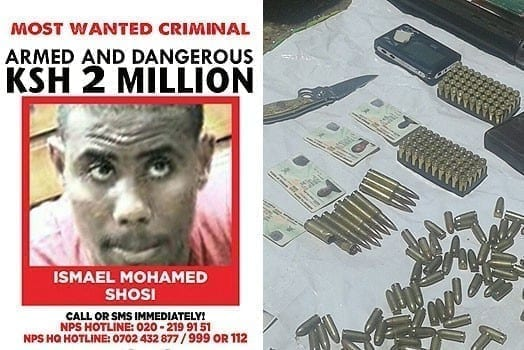LEFT: The suspect Ismail Mohammed Soshi. RIGHT: A cache of weapons found in the house. PHOTOS |