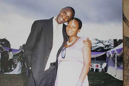 Moses Dola with his wife, the late Wambui Kabiru during happier times. PHOTO | COURTESY