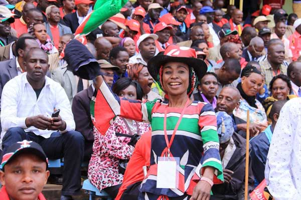 Jubilee Party supporters at Safaricom Kasarani
