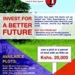INVEST FOR A BETTER FUTURE-OWN A PLOT FOR AS LITTLE AS KSH 20,000