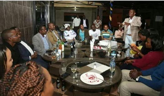 A photo taken from a city hotel where former vice president Kalonzo Musyoka met former TNA secretary general, Onyango Oloo. PHOTO | COURTESY