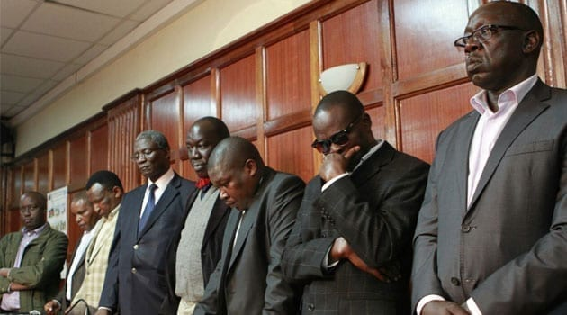 Mangiti and his co-accused in the dock/CFM