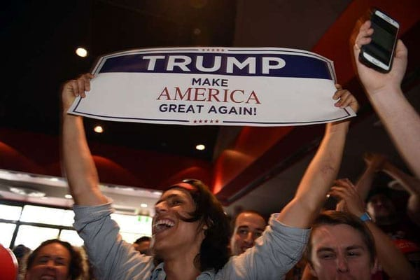 Supporters of US President-Elect Donald Trump