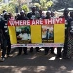 PHOTOS:Isaac Kinity,The Diaspora who dared and succeeded to protest in Nairobi