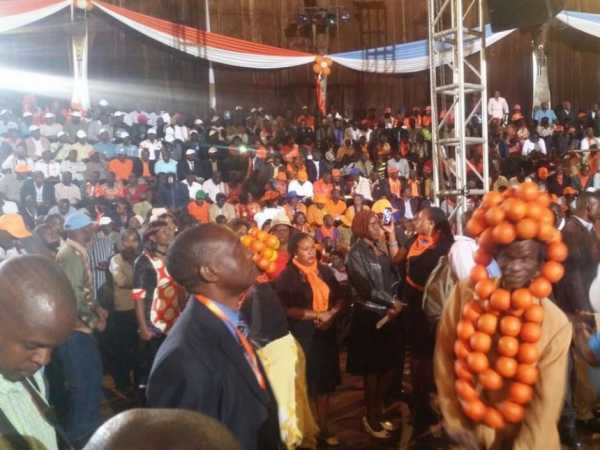 Cord supporters and aspirants await the arrival of opposition leaders for a meeting at Bomas of Kenya in Nairobi, January 11, 2016. /MONICAH MWANGI