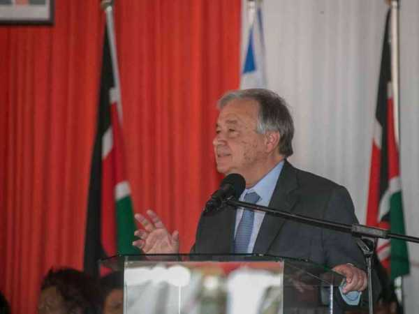 UN secretary general Antonio Guterres speaks during a ceremony in Nairobi to mark International Women's Day, March 8, 2017. /PSCU