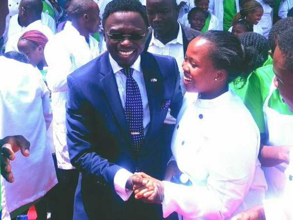 Budalang'i MP Ababu Namwamba during the launch of National Youth Service programmes in the constituency, March 21, 2017. /COURTESY