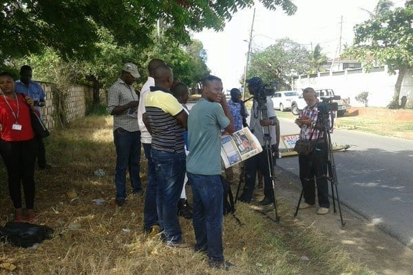 Members of the press were barred from the Coast