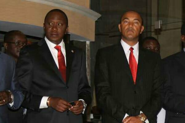 President Uhuru Kenyatta and Jubilee Party's Nairobi governor aspirant Peter Kenneth during a past function. PHOTO | FILE | NATION MEDIA GROUP
