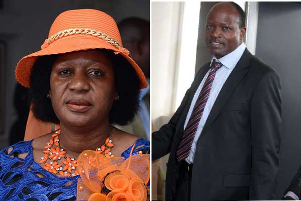 Nominated Senator Elizabeth Ongoro (left) and Migori governor Okoth Obado when they appeared before the ODM disciplinary committee on April 10, 2017. They have been ordered to pay a total of Sh3 million as punishment for chaos perpetrated by their supporters. PHOTOS | DENNIS ONSONGO | NATION MEDIA GROUP
