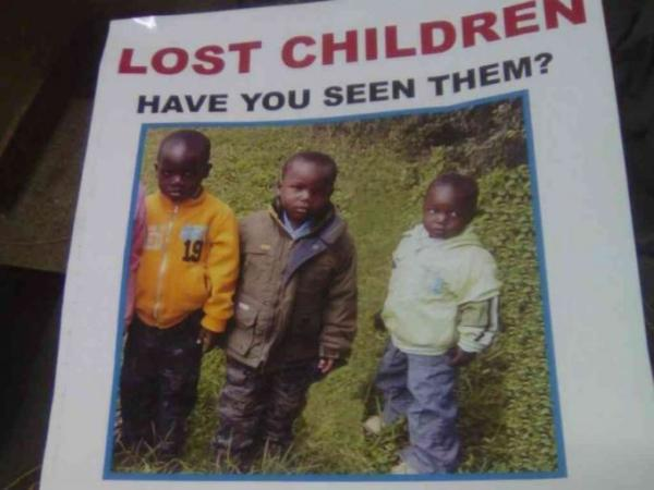 A poster of Eldoret MCA aspirant James Ratemo's children who were found dead on the night of May 18, 2017. /MATHEWS NDANYI