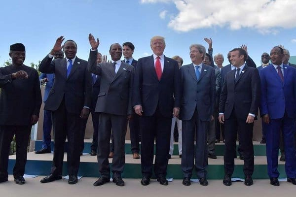 G7 leaders and leaders of some African countries