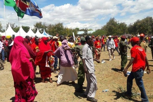 Chaos at Isiolo Stadium ahead of President