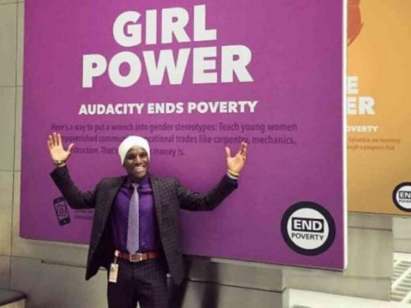 David Wachira in the USA. He is the only man with a turban working for the World Bank. Photo/COURTESY