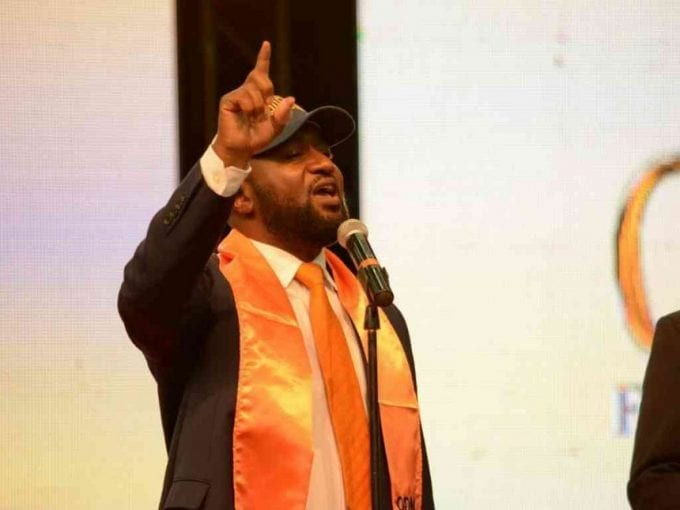 Mombasa Governor Hassan Joho speaks during ODM's National Delegates Convention at Safaricom Stadium Kasarani in Nairobi, May 5, 2017. /EUGENE OKUMU