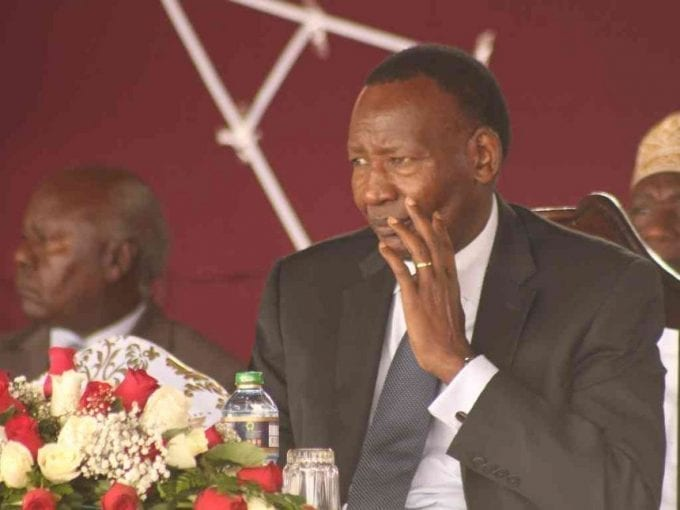 Cabinet Secretary Internal Security Joseph Nkaissery during the mass of the fallen soldiers two weeks ago./Victor Imboto