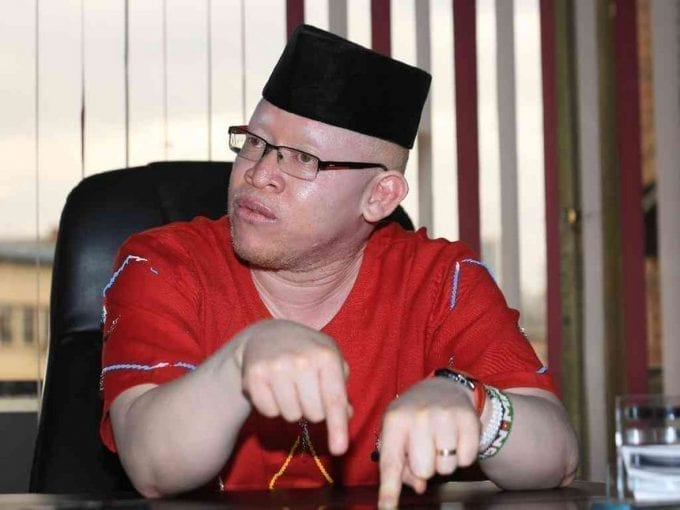 Nominated Senator Isaac Mwaura during an interview with Thomson Reuters Foundation at his office in downtown Nairobi.