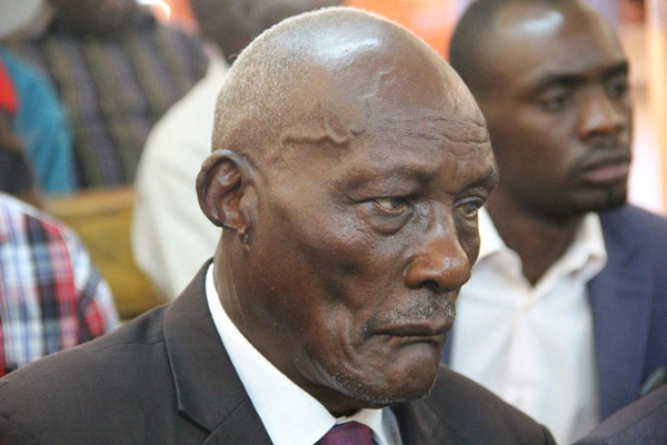 Prominent Uasin Gishu politician and farmer Jackson Kibor. He has been accused of allegedly attempting to shoot his son over land dispute. PHOTO | JARED NYATAYA | NATION MEDIA GROUP