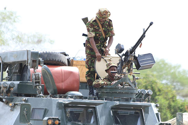 Kenya Defence Forces in Somalia. The president