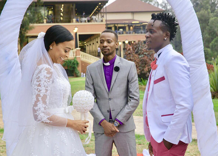 Image result for Willy Paul wedding photos with Jamaican singer Alaine