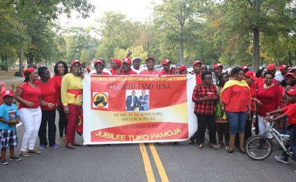Image result for Uhuru supporters in US stage demos