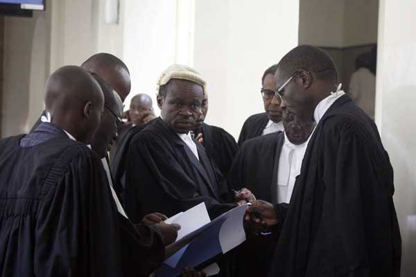 Lawyers PLO Lumumba(centre) with other Lawyers