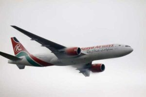 KQ plane carrying troubled UK minister gets rare global focus