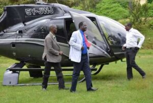 The list of politicians who own helicopters in Kenya