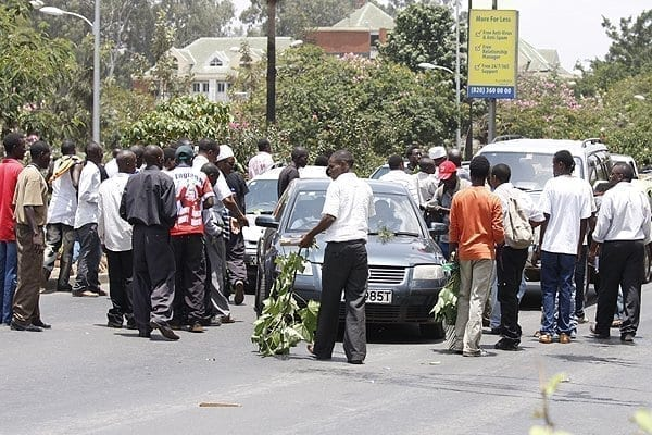 Chaos as varsity students stage, Diaspora Messenger News Media