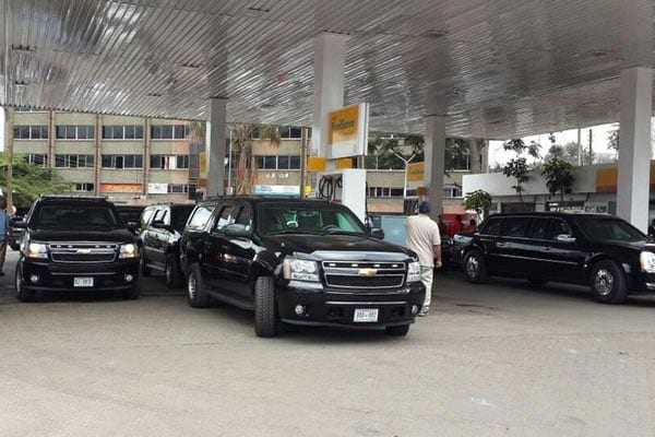 Vehicles to be used by US President Barack