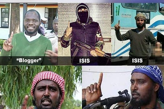 The widely circulated photos that attempted to portray Mr Juma as a sympathiser of Islamist militants. PHOTO | COURTESY