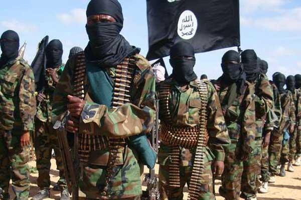A file photo taken on February 13, 2012 shows members of the Al-Shabaab in Elasha Biyaha, Somalia. AFP FILE PHOTO   MOHAMED ABDIWAHAB
