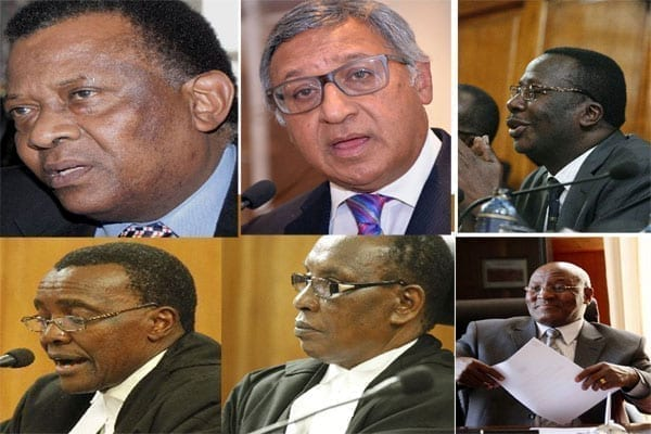 Judicial Service Commission has on July 12, 2016 shortlisted Justices Nzamba Kitonga, Alnashir Visram, Smokin Wanjala, David Maraga, Roselyne N. Nambuye and Mbogholi Msagha for Chief Justice position interviews. PHOTO | FILE | NATION MEDIA GROUP