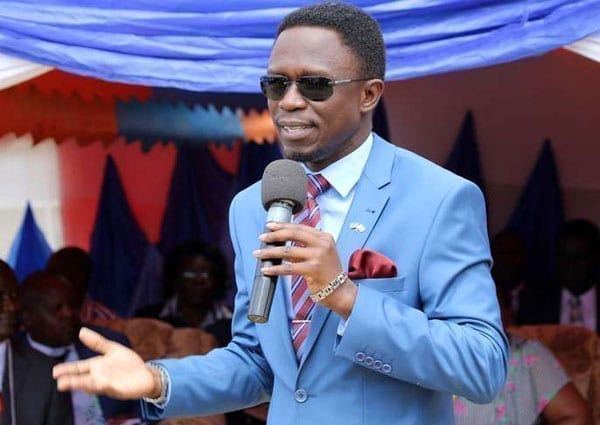 Budalang'i MP Ababu Namwamba speaks at St Benedicta High School in Budalang'i on July 22, 2016.