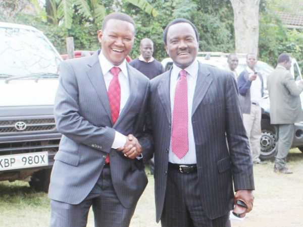 Machakos Governor Alfred Mutua with Wiper leader Kalonzo Musyoka at a past event. /FILE
