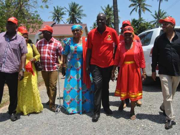 Jubilee Party leaders during the campaign launch in Coast at the home of Kilifi North MP Gideon Mung'aro in Daboso, Kilifi county September 15. /ALPHONCE GARI
