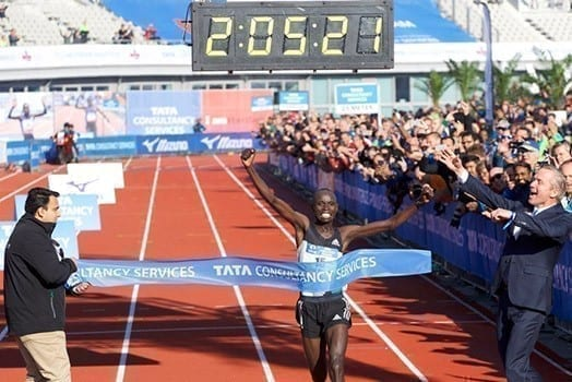 Daniel Wanjiru won the 41st TCS Amsterdam Marathon in 2:05.21, setting a new course record. PHOTO | COURTESY